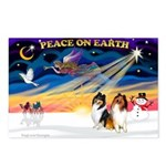 XmasSunrise/2 Collies Postcards (Package of 8)