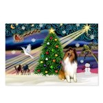 Xmas Magic & Collie Postcards (Package of 8)