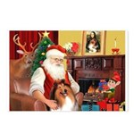 Santa's Collie Postcards (Package of 8)