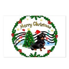 XmasMusic1/Dachshund #17 Postcards (Package of 8)