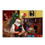 Santa's Dachshund (BT) Postcards (Package of 8)
