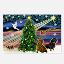 Santa/Two Dachshunds (BB-P2) Postcards (Package of