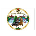 XmasMusic1/2 Dachshunds Postcards (Package of 8)