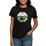 XmasMusic1/2 Dachshunds Women's Dark T-Shirt