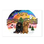 XMusic2-Two Long H. Dachshunds Postcards (Package