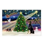 XmasMagic/Dobie (1) Postcards (Package of 8)