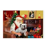 Santa's white EBD Postcards (Package of 8)