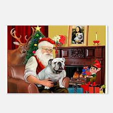 Santa's white EBD Postcards (Package of 8)