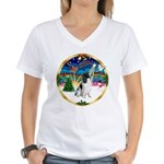 XmasMusic 3/Eng Springer #8 Women's V-Neck T-Shirt