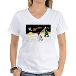 Night Flight/Eng Springer L3 Women's V-Neck T-Shir