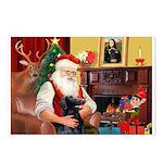 Santa's Flat Coat R Postcards (Package of 8)