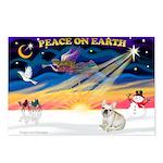 XmasSunrise/Fr Bulldog Postcards (Package of 8)