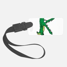 Alligator K Luggage Tag