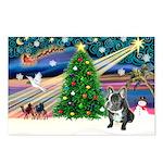 XmasMagic/French Bulldog Postcards (Package of 8)