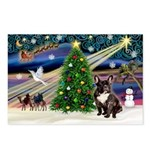 XmasMagic/French Bulldog Postcards (Package of 8)