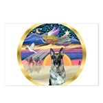 XmasStar/German Shepherd 12 Postcards (Package of