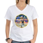XmasStar/German Shepherd 12 Women's V-Neck T-Shirt