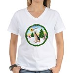 Take Off1/ German Shepherd Women's V-Neck T-Shirt