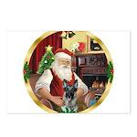 Santa's German Shepherd Postcards (Package of 8)