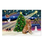 XmasMagic/ Golden Postcards (Package of 8)