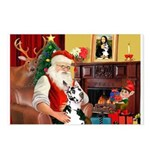 Santa's Great Dane (H) Postcards (Package of 8)