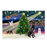 XmasMagic/Black Dane Postcards (Package of 8)