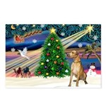 Xmas Magic & Gr Dane Postcards (Package of 8)