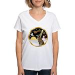 Night Flight/Greyhound (brin) Women's V-Neck T-Shi