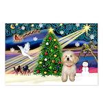 XmasMagic/Havanese pup Postcards (Package of 8)