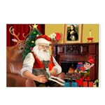 Santa's Ital.Greyt (6) Postcards (Package of 8)