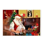 Santa's Ital Greyhound Postcards (Package of 8)