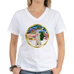 XmasMagic/Spinone #11 Women's V-Neck T-Shirt