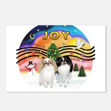 Music2-2Jap Chins (Lem+BW) Postcards (Package of 8