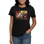 Santa/Keeshond Women's Dark T-Shirt