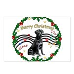 XmasMusic2/Lab (black) Postcards (Package of 8)
