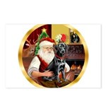 Santa's Lab (blk)#1 Postcards (Package of 8)