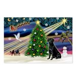 Xmas Magic & Black Lab Postcards (Package of 8)