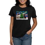 Xmas Magic & Choc Lab Women's Dark T-Shirt