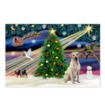 Xmas Magic & Yelow Lab Postcards (Package of 8)