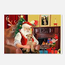 Santa/Lakeland Terrier Postcards (Package of 8)