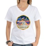 XmasStar/ Maltese # 11 Women's V-Neck T-Shirt