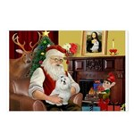 Santa's Maltese Postcards (Package of 8)