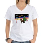 XmasSigns/Newfie Women's V-Neck T-Shirt