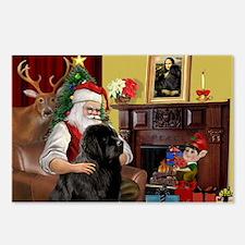 Santa's Newfie Postcards (Package of 8)