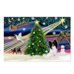 XmasMagic/Papillon Postcards (Package of 8)