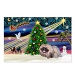XmasMagic/ Pekingese Postcards (Package of 8)