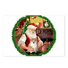 Santa's Pomeranian #1 Postcards (Package of 8)