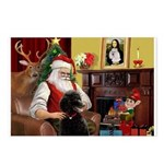 Santa's Poodle (ST-B4) Postcards (Package of 8)