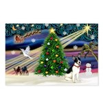 XmasMagic/Rat Terrier Postcards (Package of 8)