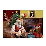 Santa's Rat Terrier Postcards (Package of 8)